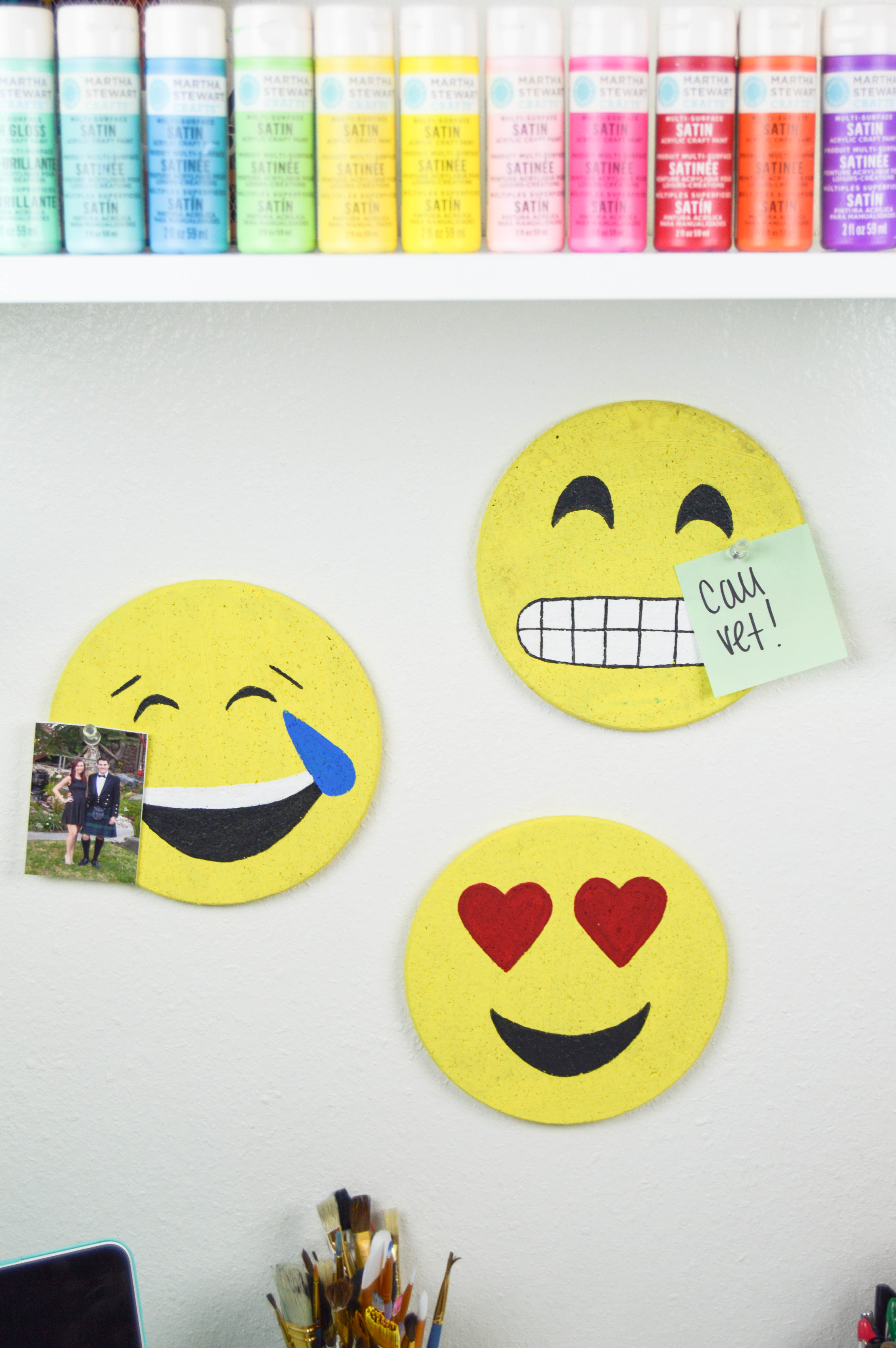DIY Emoji Cork Boards | www.clubcrafted.com