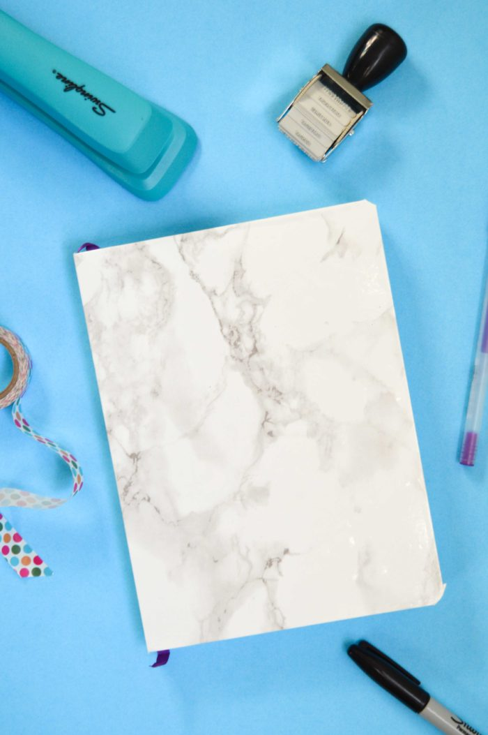 DIY Marbled Notebook | www.clubcrafted.com
