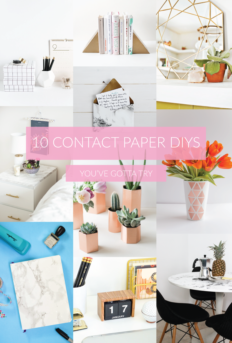 10 Contact Paper DIYs to Try | www.clubcrafted.com