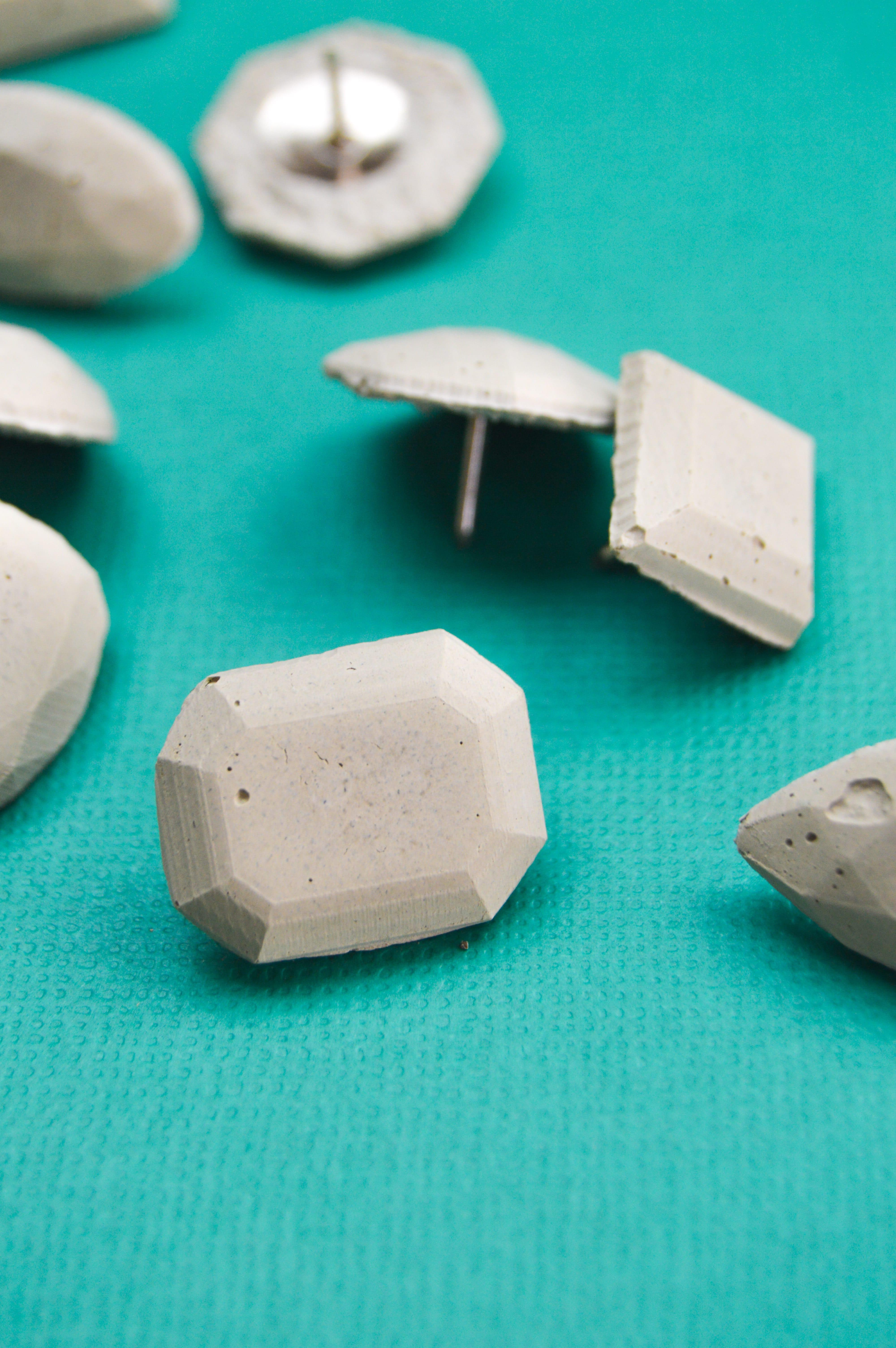 DIY Cement Gem Push Pins | www.clubcrafted.com