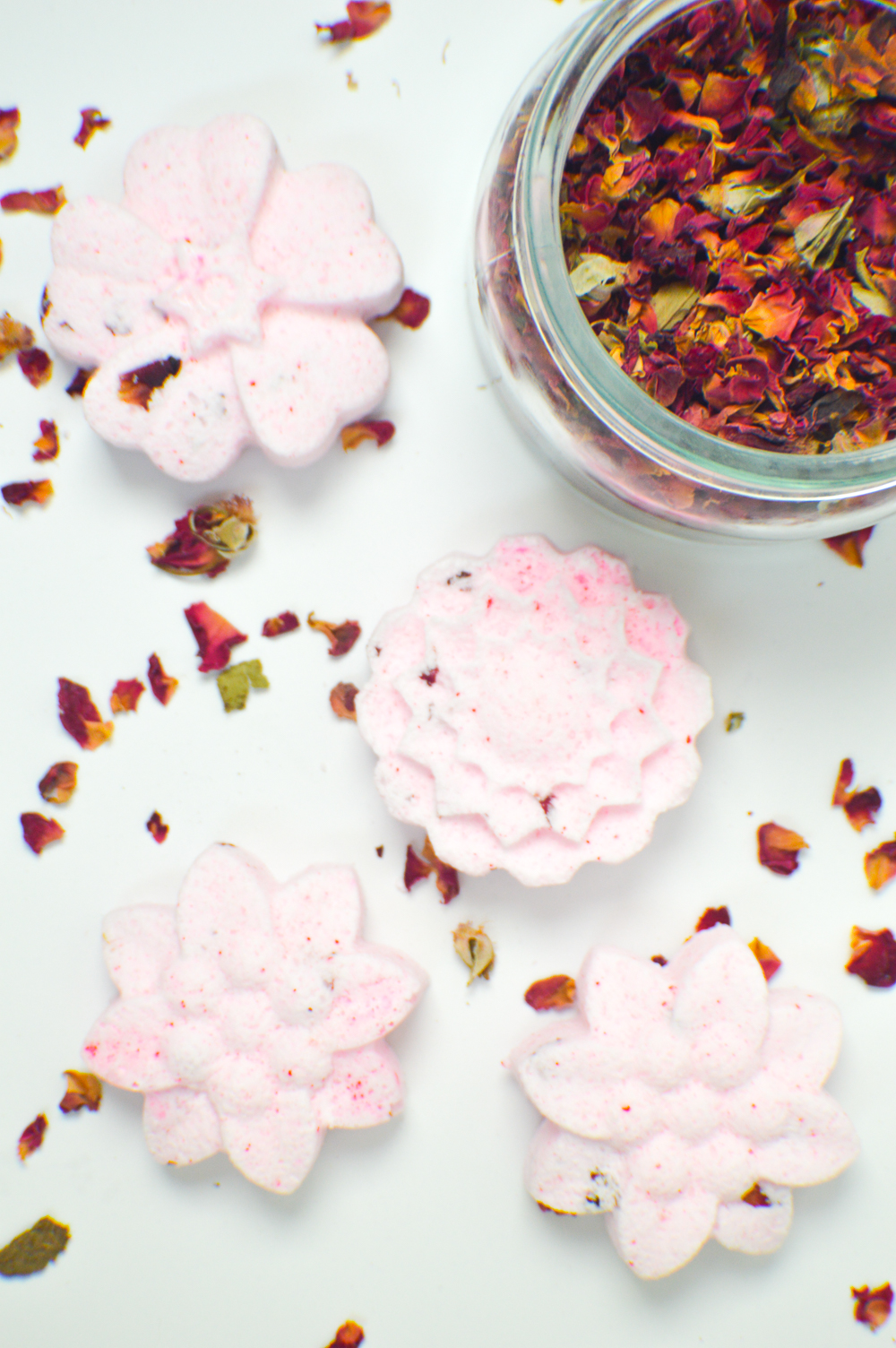 DIY Floral Bath Bombs