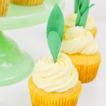 Pineapple Cupcake Recipe + DIY Pineapple Cupcake Toppers