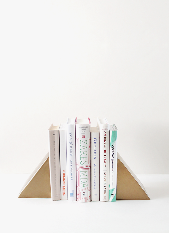 diy-triangle-bookends-almost-makes-perfect