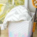 DIY Watercolor Basket Makeover
