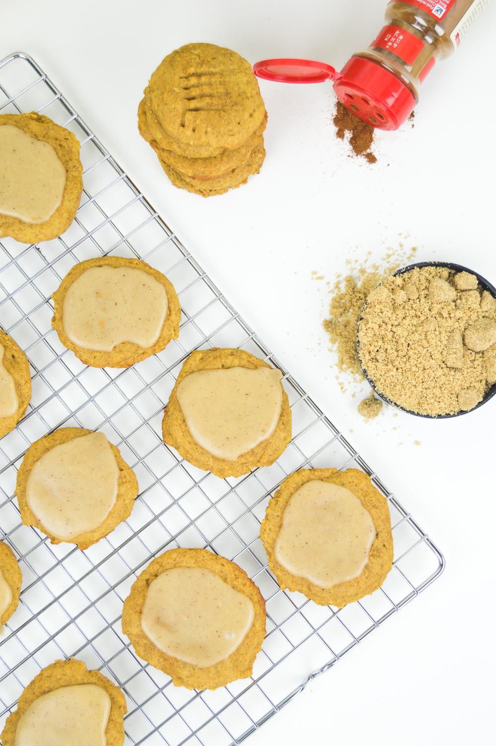 Brown Butter Pumpkin Cookies + Brown Butter Glaze
