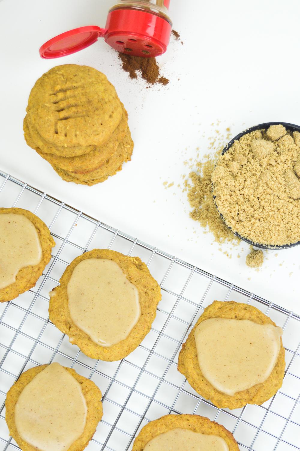 Brown Butter Pumpkin Cookies + Brown Butter Glaze | www.clubcrafted.com