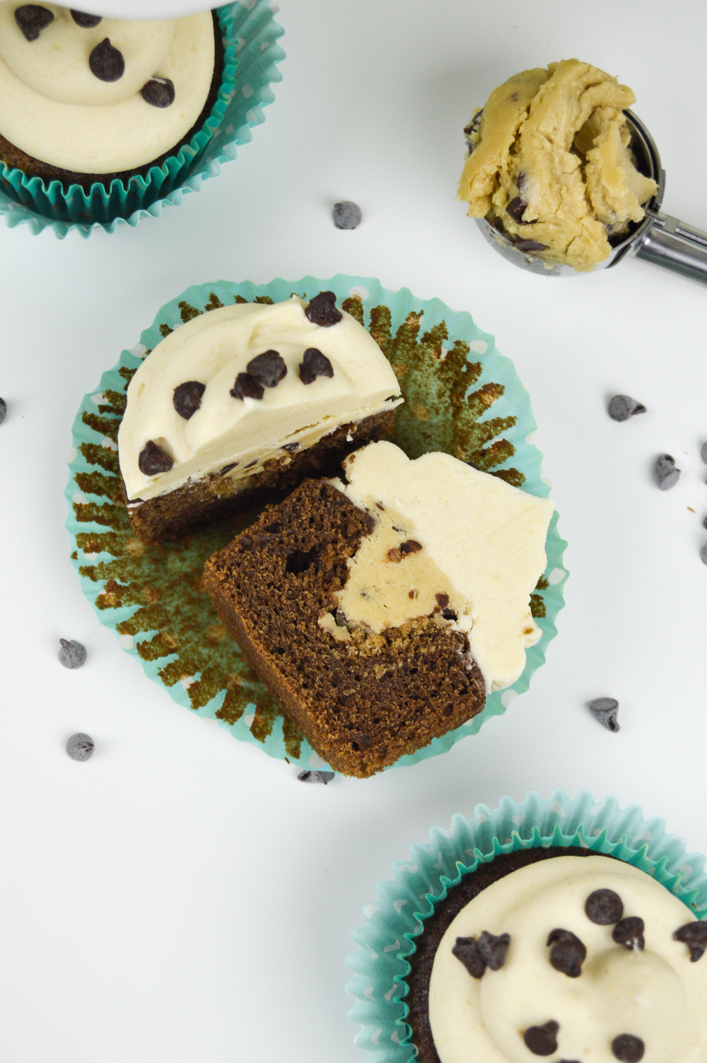 Chocolate Cookie Dough Cupcakes | www.clubcrafted.com