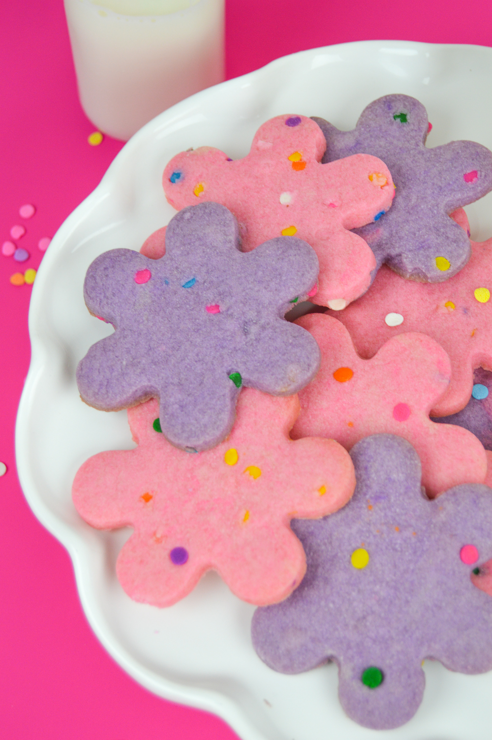 Colored Funfetti Shortbread Cookies | www.clubcrafted.com