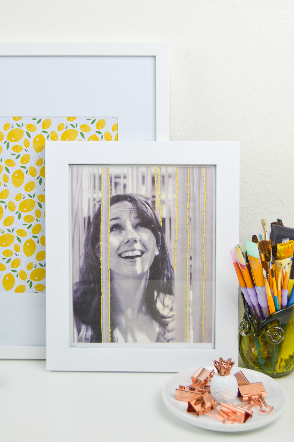 DIY Embroidered Photo Art | www.clubcrafted.com