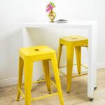 DIY Rolling Kitchen Island or Bar (IKEA Hack!)