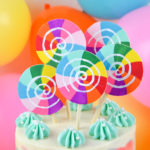 DIY Lollipop Cake Topper