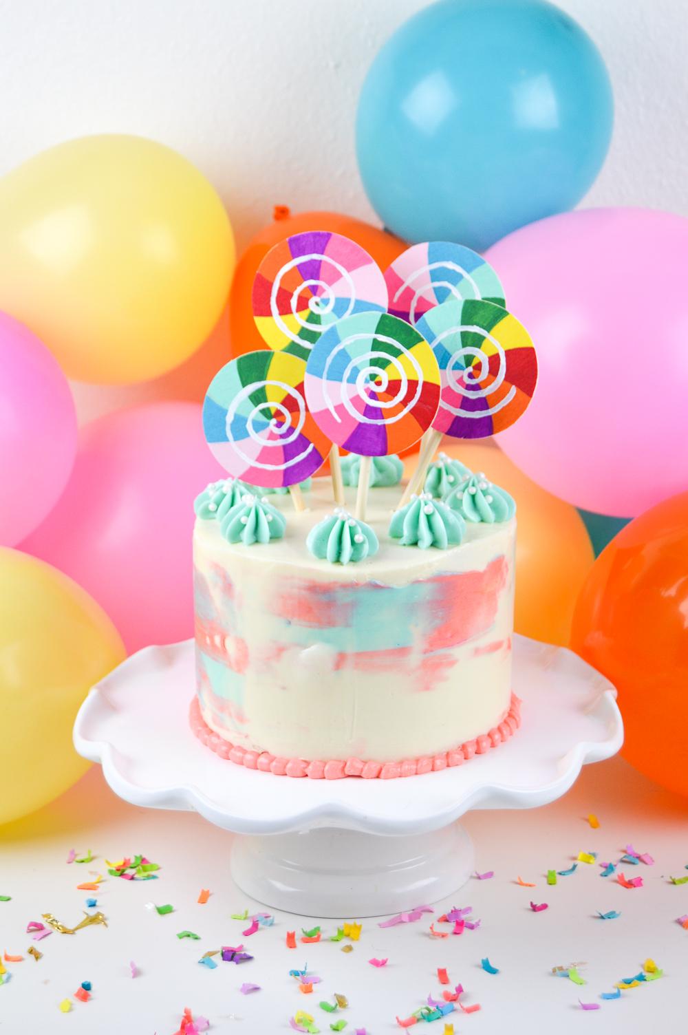 DIY Lollipop Cake Topper   Club Crafted