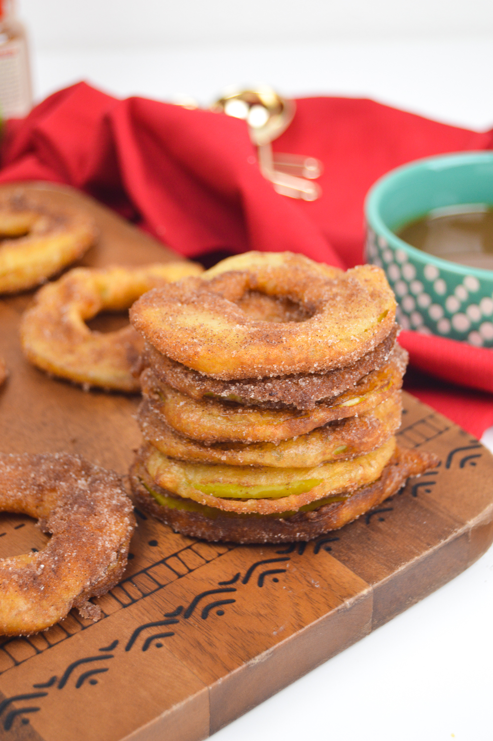 Fried Apple Rings + Bourbon Caramel Dipping Sauce