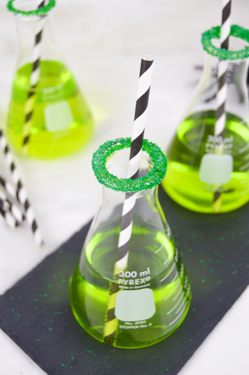 Green Chemical Cocktail for Halloween | Club Crafted