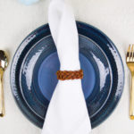 DIY Leather Braided Napkin Rings