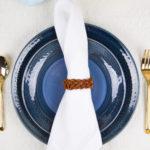 DIY Leather Braided Napkin Rings