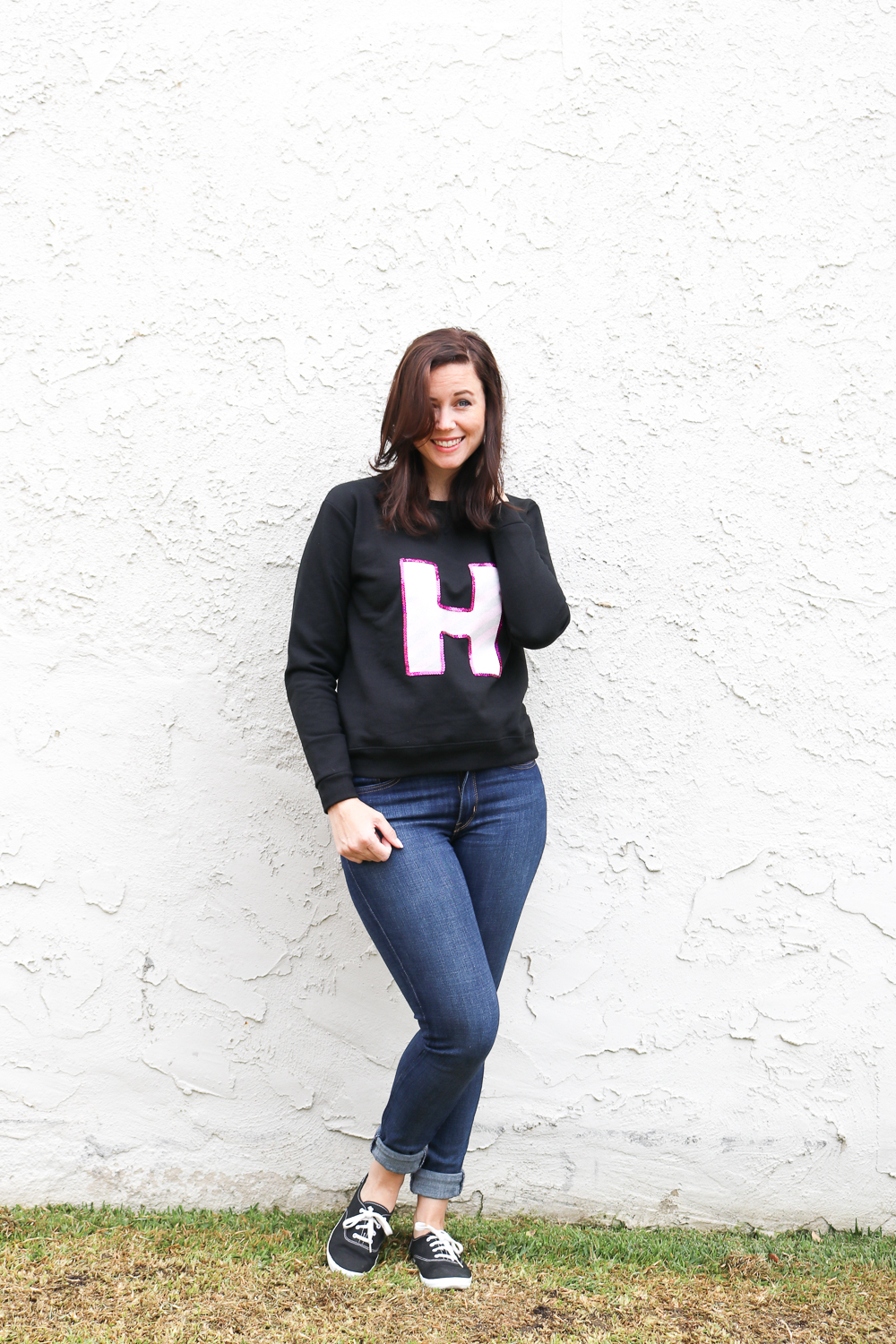 DIY Sequin Monogram Sweatshirt | Club Crafted