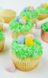 Coconut Easter Egg Hunt Cupcakes
