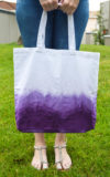 DIY Dip Dyed Tote Bag