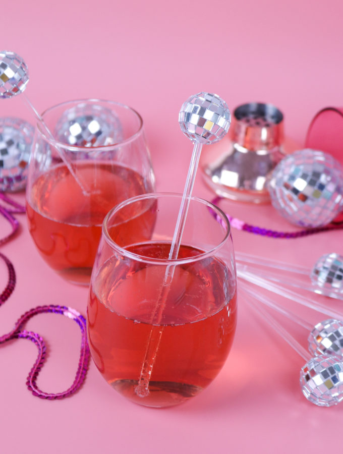 DIY Disco Ball Drink Stirrers