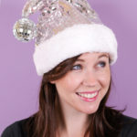 DIY Disco Santa Hat
