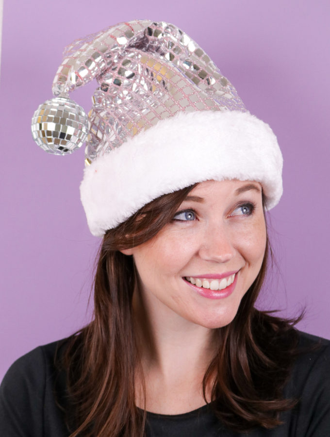 DIY Disco Santa Hat | Club Crafted