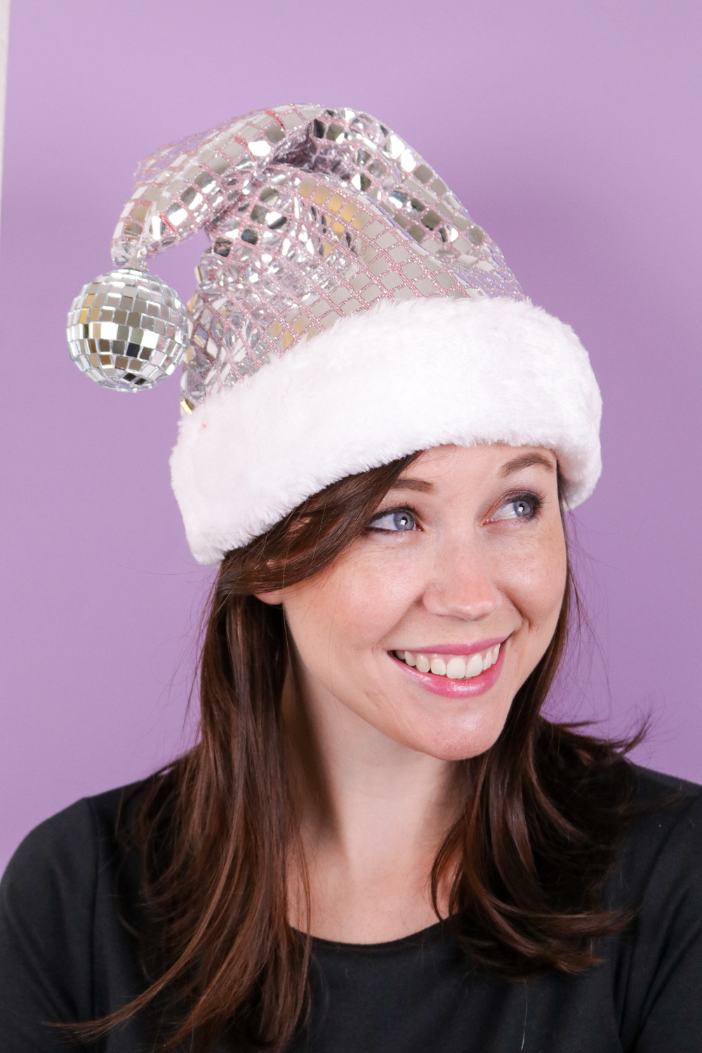 2dcb2929c01 DIY Disco Santa Hat