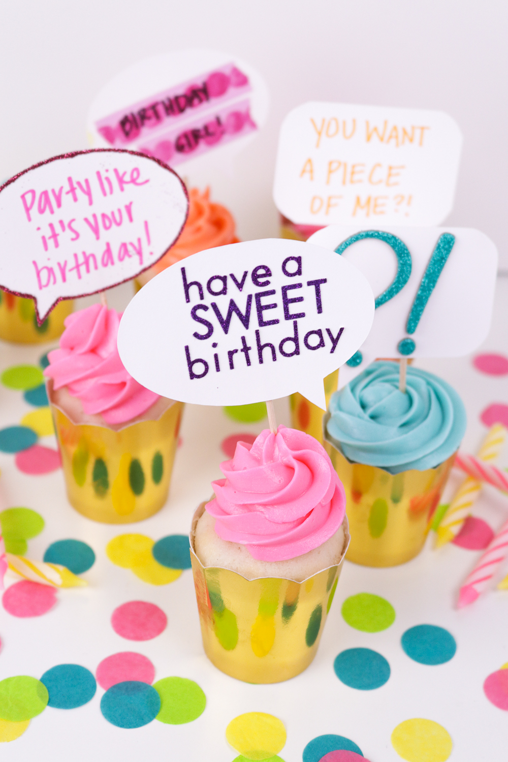 diy quote bubble cupcake toppers   free printable
