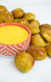 Pretzel Bites with Cheese Sauce