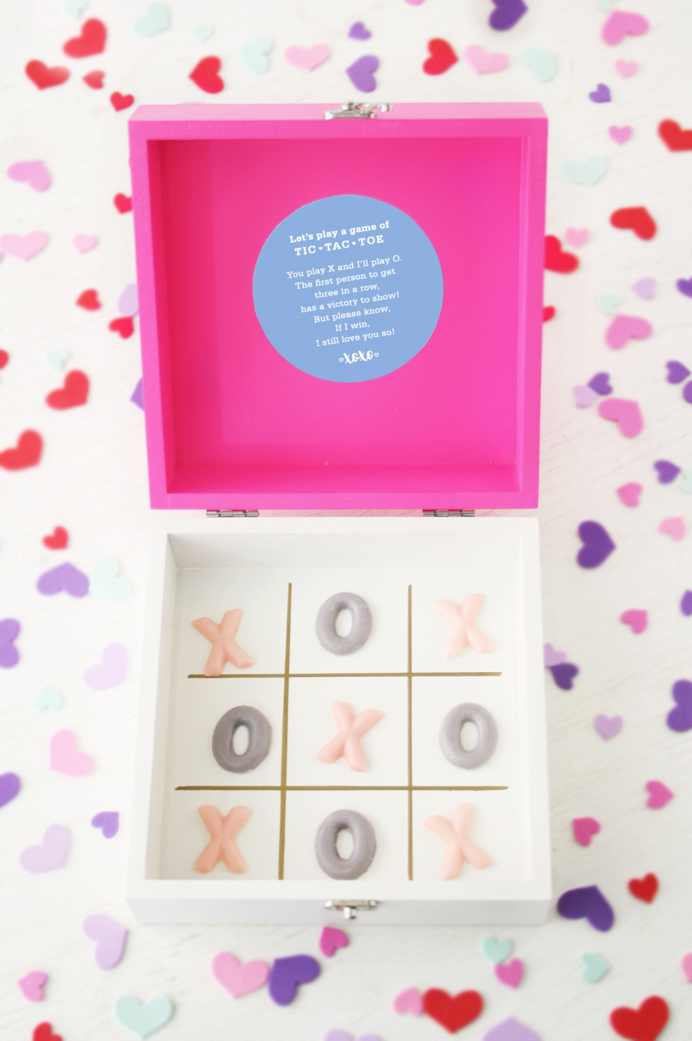 photo regarding Tic Tac Toe Valentine Printable titled Valentines Working day: Do-it-yourself Chocolate Tic-Tac-Toe Present Box +