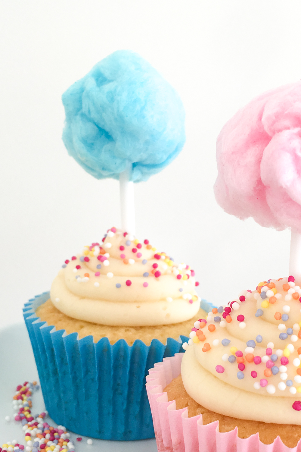 Candy Floss Cupcakes (Cotton Candy Cupcakes) | Club Crafted