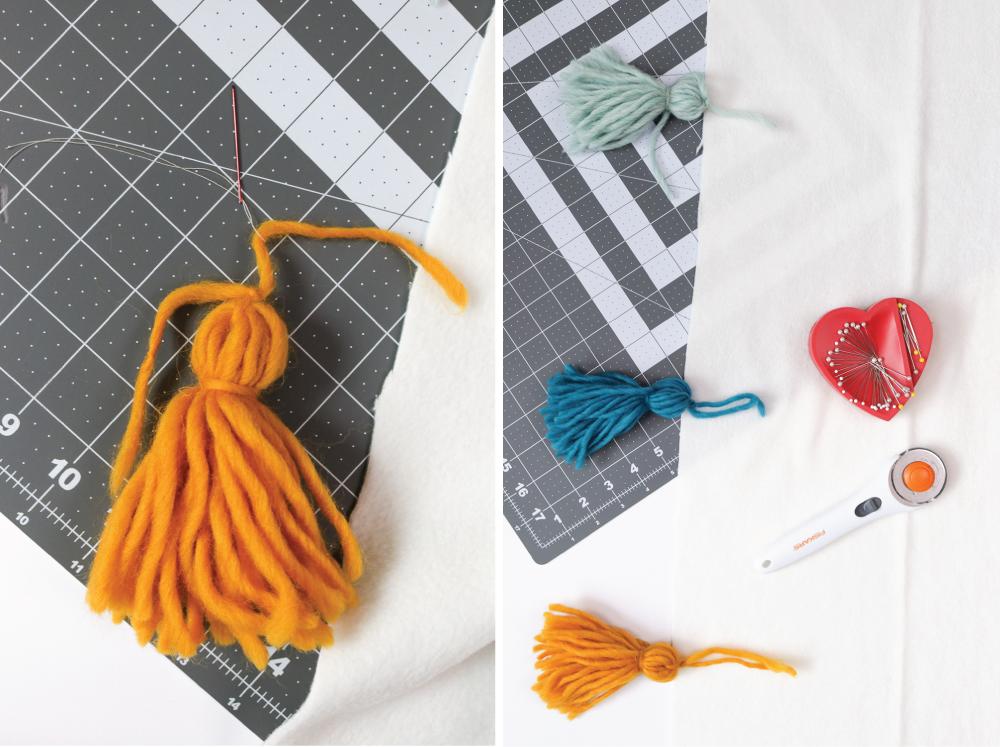 DIY Fleece Tassel Blanket | Club Crafted