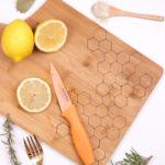 DIY Honeycomb Wood Burned Cutting Board