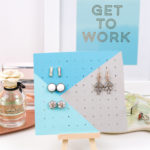 Jewelry Storage: DIY Wood Earring Board