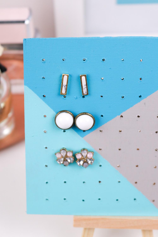 Jewelry Storage: DIY Wood Earring Board | Club Crafted