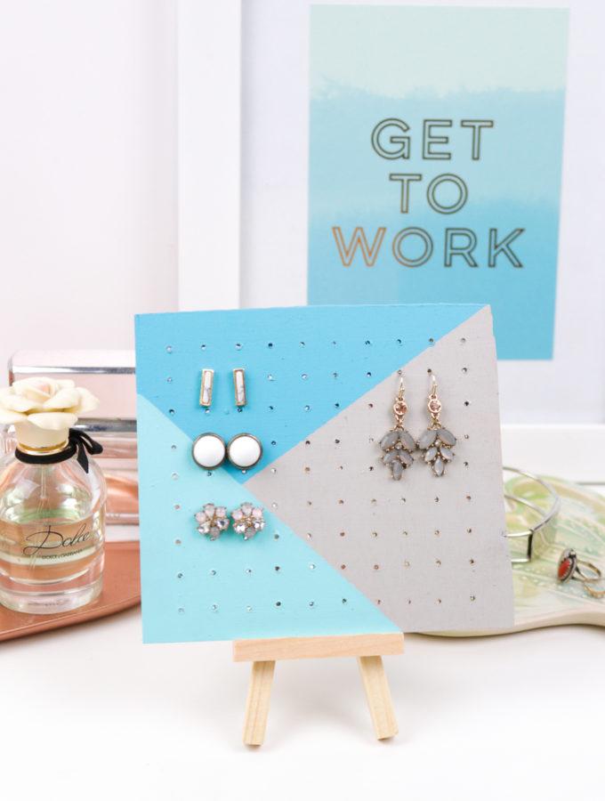 Jewelry Storage: DIY Wood Earring Board