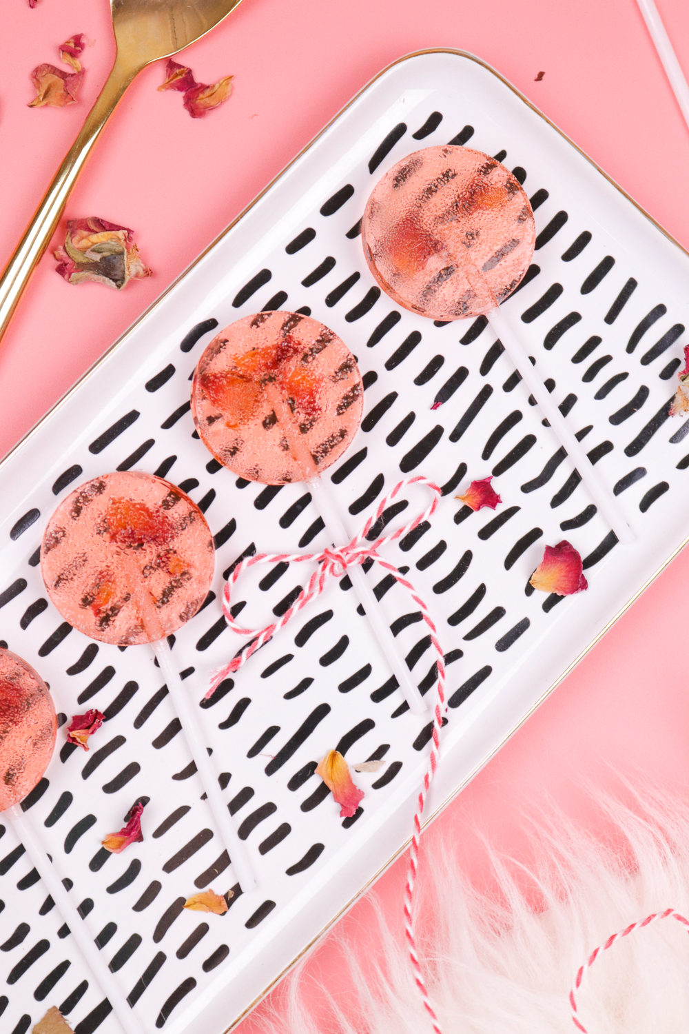Homemade Rose Lollipops | Club Crafted