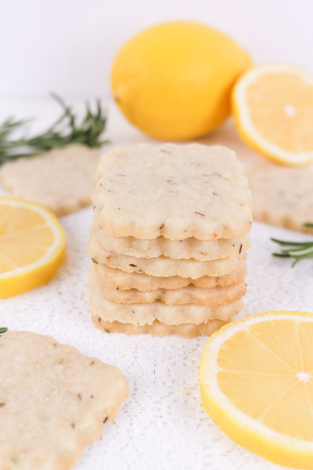 Lemon Rosemary Shortbread Cookies - Club Crafted