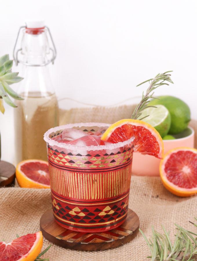 Rosemary Blood Orange Margaritas | Club Crafted