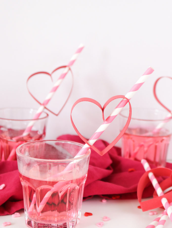 DIY Heart Straws for Valentine's Day