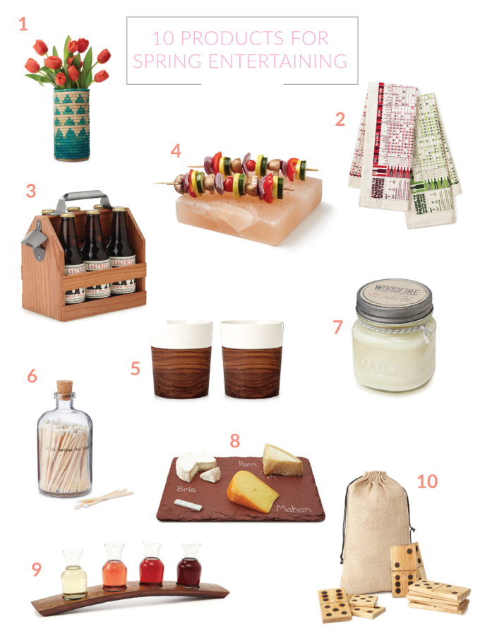 Shopping Guide: 10 Products for Spring Entertaining