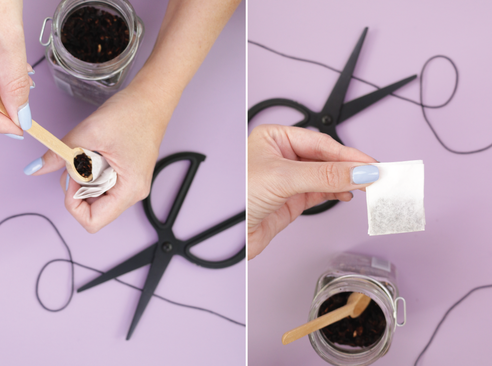DIY Coffee Filter Tea Bags + Printable Tags | Club Crafted