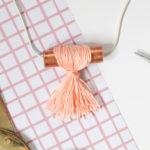 DIY Copper Pipe Tassel Necklace