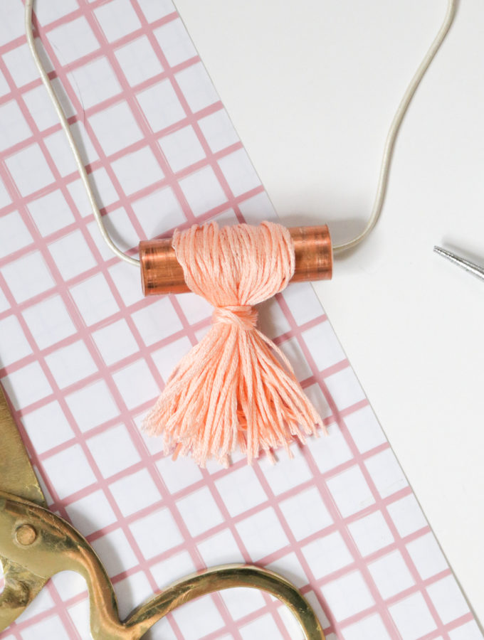 DIY Copper Pipe Tassel Necklace