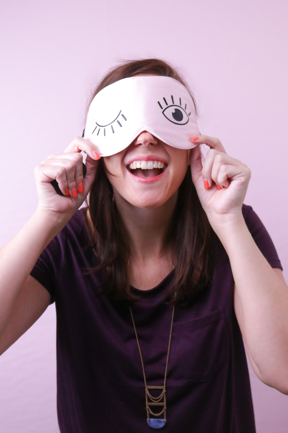 DIY Eyelash Sleep Mask | Club Crafted