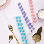 DIY Pom Pom Edged Napkins
