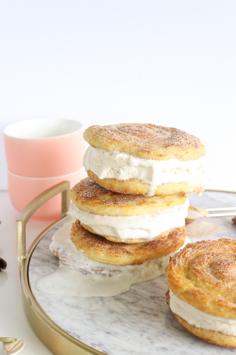 Baked Churro Ice Cream Sandwiches   Club Crafted