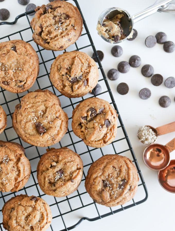 Salted Brown Butter Chocolate Chunk Cookies | Club Crafted