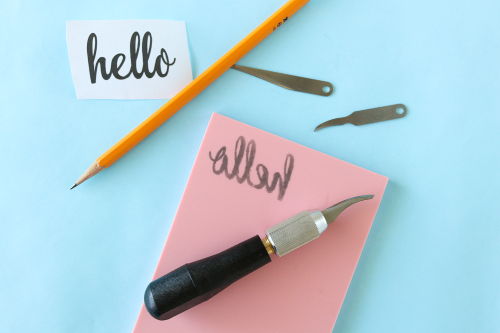 DIY Carved Cursive Stamps | Club Crafted