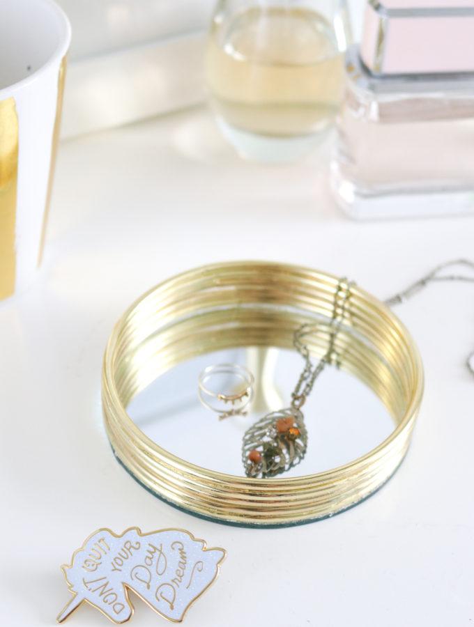 DIY Mirrored Trinket Tray